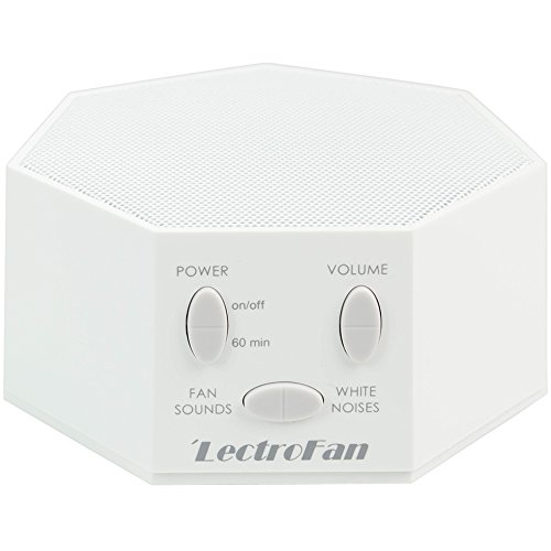 LectroFan - White Noise Machine with 10 Fan and 10 White Noise Options, White