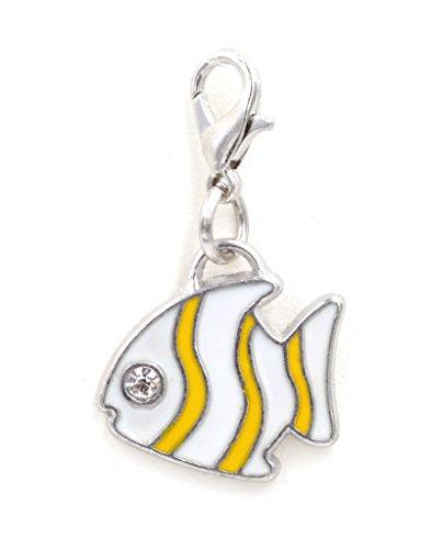 2-pc-set-stainless-steel-starter-charm-bracelet-and-clip-on-charm-white-yellow-enamel-fish-75-95-adj