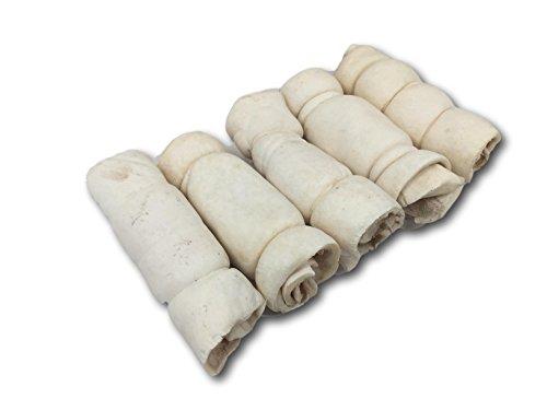 "Buffalo Beef Cheek Rolls 6"" - 5 Pack from Top Dog Chews"