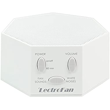 LectroFan - White Noise Machine, 20 Sleep Therapy Sound Options and 7 Unique Sleep Settings, White (FFP)