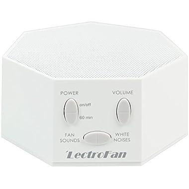 LectroFan - White Noise Machine, 20 Sleep Therapy Sound Options, White (FFP)
