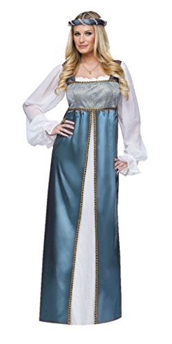Lady Capulet Costumes (Funworld Womens Historic Lady Capulet Lilac Satin Theme Party Fancy Costume, M (8-10))