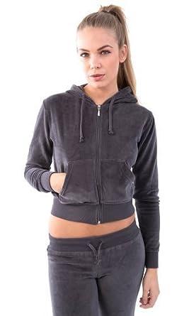 Veste de jogging femme velours