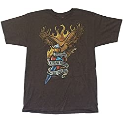 Willie Nelson Eagle Original Outlaw Music Brown T Shirt (M)