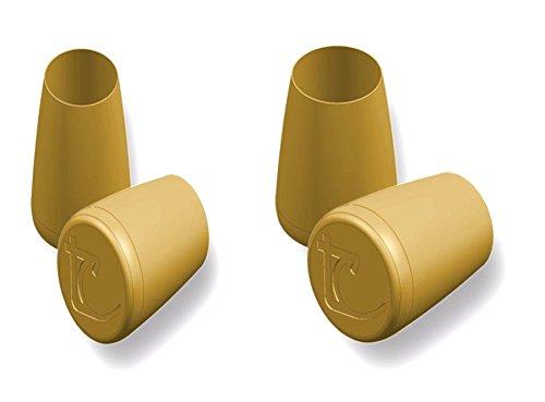 Stöckelstulpen neue Generation TC-2 Paar- Größen 1 und 2 - made in France - patentiertes Modell und eingetragenes Gebrauchsmuster - Originalkreation Gold