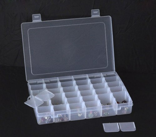 Housweety Beads Display Storage Container W/36 Grids 28x19x4.5cm by Housweety