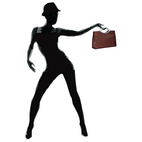Sac Petit CUIR marron business poignée à en sac main pour femme TL622 en métal CASPAR avec zy1qf5FWSW