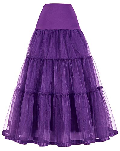 Petticoat Size Chart (Vintage Purple Dress Skirts Petticoats for Costume)