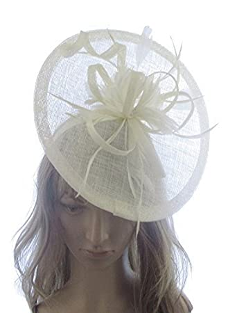 Extra Large Ivory cream off white Saucer Hatinator headband for Special  Events bc4794fa54e