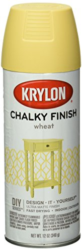 Krylon K04114000 Chalky Finish Spray Paint, Wheat, 12 Ounce