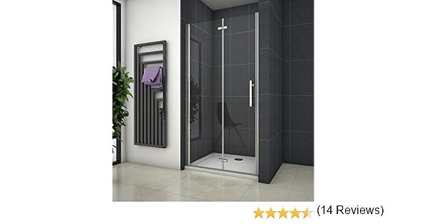 Mampara de ducha Apertura de Puerta Plegable Antical 120x195cm: Amazon.es: Bricolaje y herramientas