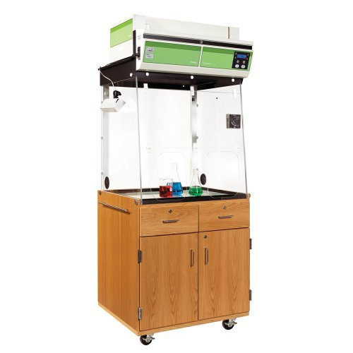 Diversified Woodcrafts 1800K UV Finish Mobile Fume Hood Station 32-3/8 Width x 81-1/2 Height x 27-1/4 Depth