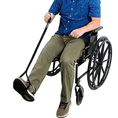 """Leg Lifter Strap by TKWC INC - 39"""" Rigid Foot Loop with Hand Loop, Great for Adults, Elderly, Disability or Recovery - Use for Cars, Wheelchairs, Beds, Chairs, Couch and More."""