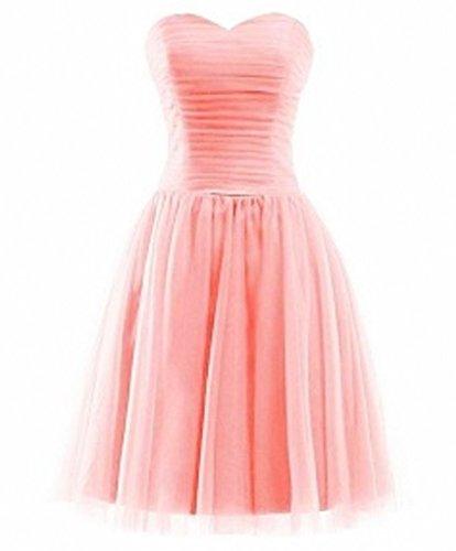 Braut Rosa mia Linie Promkleider Abendkleider Tuell Festlichkleider La Cocktailkleider A Abschlussballkleider Kurz Mini 5Zwx7dOq
