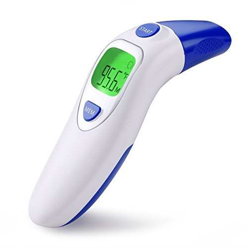 Medical Ear Thermometer with Forehead Function - Clinical Digital Infrared Thermometer for Baby Adult Child with Fever Alarm , 20 Groups Memory by Aphaca