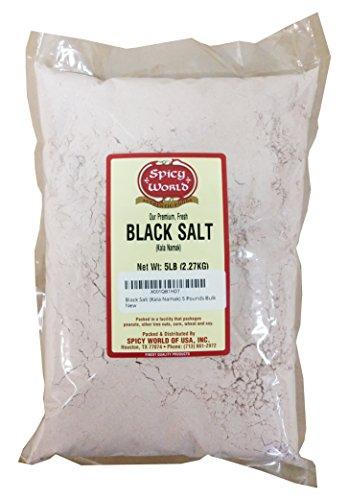 - Black Salt (Kala Namak) 5 Pounds Bulk
