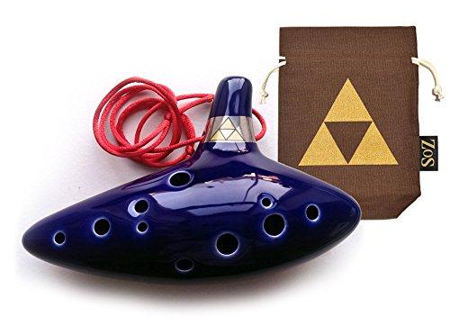 Legend of Zelda Ocarina 12 - Loch Okarina Flöte mit limitierte Auflage Okarina Tasche und zelda ocarina Liederbuch