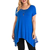 Yomoko Women's Plus Size Short Sleeve (Blue)