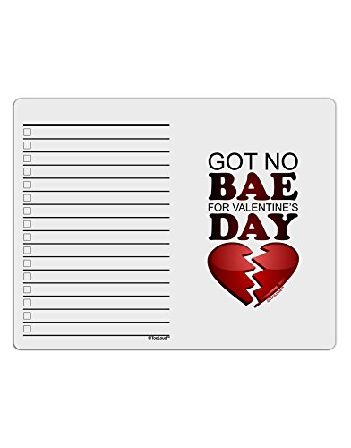 TooLoud No Bae For Valentine's Day To Do Shopping List Dry Erase Board