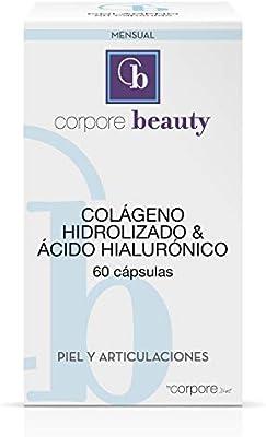 Corpore Beauty Colágeno Hidrolizado con Ácido Hialurónico - 60 Cápsulas: Amazon.es: Salud y cuidado personal