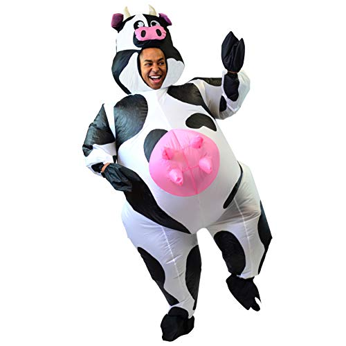 Airblown Halloween Inflatable Archway Tunnel (Spooktacular Creations Inflatable Costume Air Blow-up Deluxe Halloween Cow Costume - Adult Size (5'3'' to 6'3''))