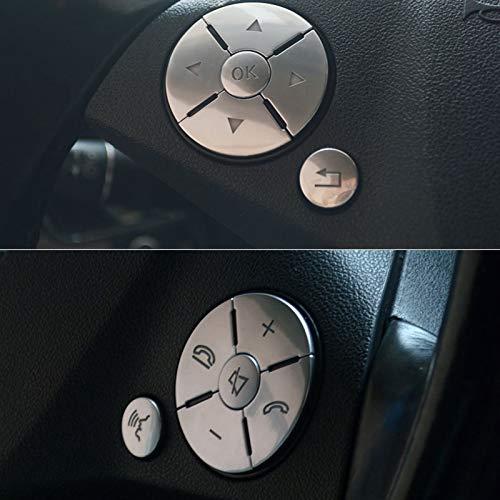 CUHAWUDBA 12Pcs Car Styling Volante Cubiertas de Botones dornos para Mercedes R ML GL CLS SLK Plata BS