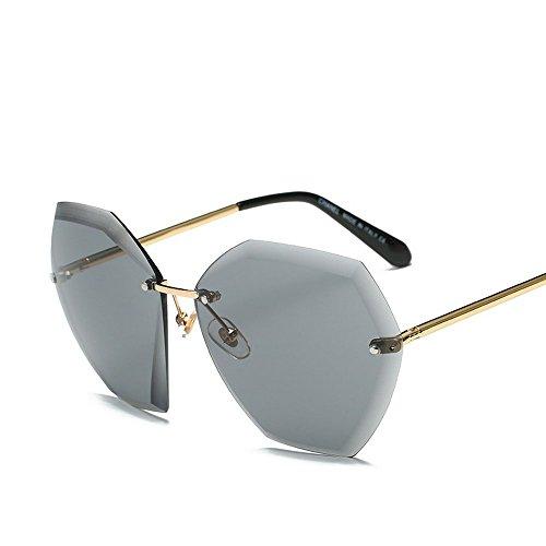 cenizas De Degradado Marco Gafas Gafas JUNHONGZHANG De Océano Película Té Fresado Cantos Doble Estante Gafas Color Moda De Sol negras Dorado de oro De Zqq6gwpF