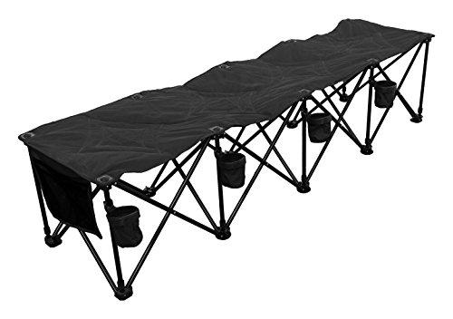 GoTeam 4 Seat Portable Folding Team Bench – Black
