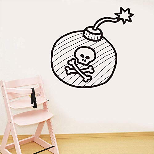 Lettering Words Wall Mural DIY Removable Sticker Decoration Pirate Bomb for Nursery Kids Room