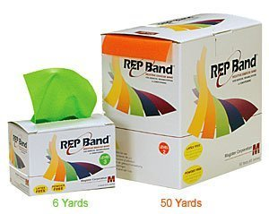 - Rep Band - Latex-Free Exercise Bands - 50 Yards - Orange (Level 2)