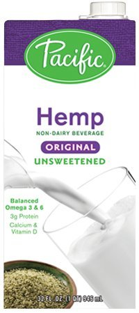 Pacific Foods, Unsweetened Hemp - Original (Pack of 6) by Pacific Foods
