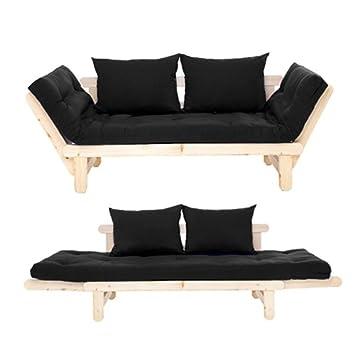 Amazon De Komplett Futon Sofa Liege Bett Mit Getuftete Matratze Und