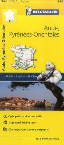Aude, Pyrenees-Orientales - Michelin Local Map 344 (Mapas Local Michelin)