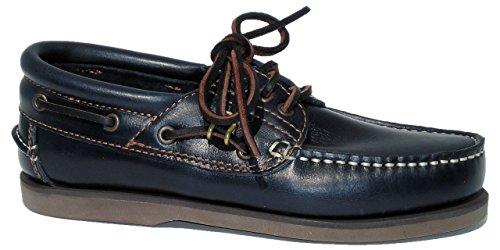 Blueport Klassik Comfort Navy - Klassischer Bootsschuh in blau
