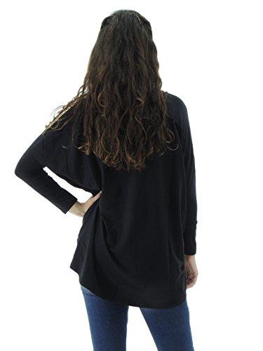 IMPERFECT - Camiseta de manga larga - Manga larga - para mujer negro