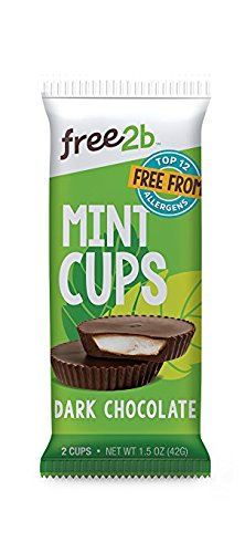 Free2b Foods Dark Chocolate Sun Cups w/Mint Gluten-Free, Dairy-Free, Nut-Free and Soy-Free - 2-Cups (Pack of - Nut Mint
