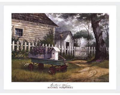 アンティークワゴンby Michael Humphries – 28 x 22インチ – アートプリントポスター LE_115496-F8989-28x22 B01NCYQOTC Classic White Frame