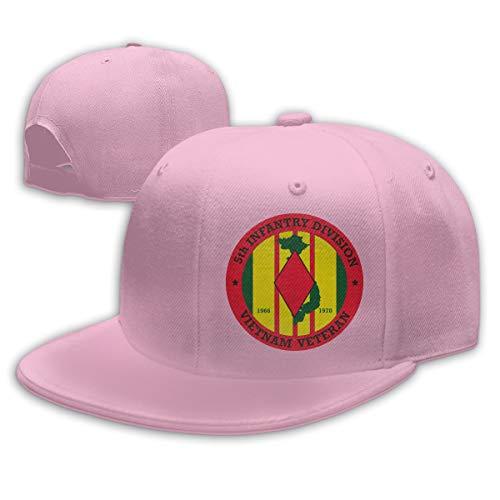 - 5th Infantry Division Vietnam Baseball Cap Dad Hat Unisex Classic Sports Hat Peaked Cap Pink