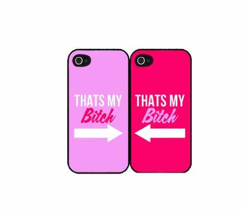 That's My Bitch Best Friends - Set of 2 Phone Case Back Cover (iPhone 5c Black - Plastic) comes with Security Tag and MyPhone Designs(TM) Cleaning Cloth