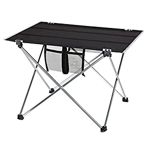 Camping Table, PACKGOUT Camp Table Portable Lightweight Folding Aluminum Table for Outdoor Fishing Travel Hiking Picnic