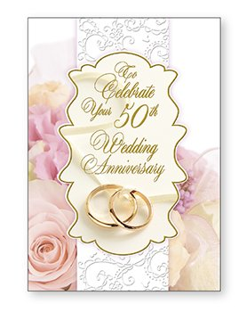Para celebrar tu 50th Golden tarjeta de diseño de frases ...