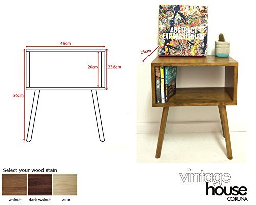 Amazon.com: Mid Century Modern Tables, Midcentury Bedside ...