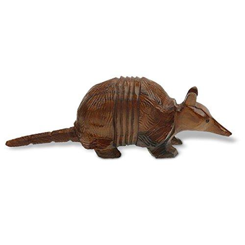 7in Long Armadillo Ironwood Art Carving - Wildlife Decor