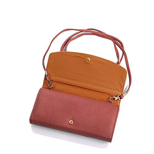 Dream Box Women Wallet/Shoulder Bag Rhinestone Clutch Purse with Shoulder Straps Blue Color