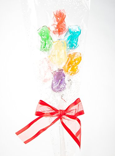 Momma's Rainbow Candy Assorted Rose Lollipop Bouquet (One Bouquet)