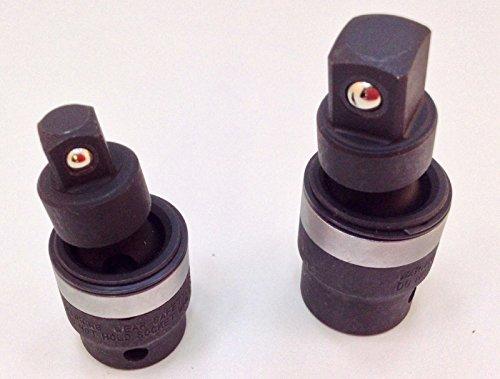 "Genius Swivel Impact Universal Joint Socket Adapter Set - 3/8"" & 1/2"" Drive USA"