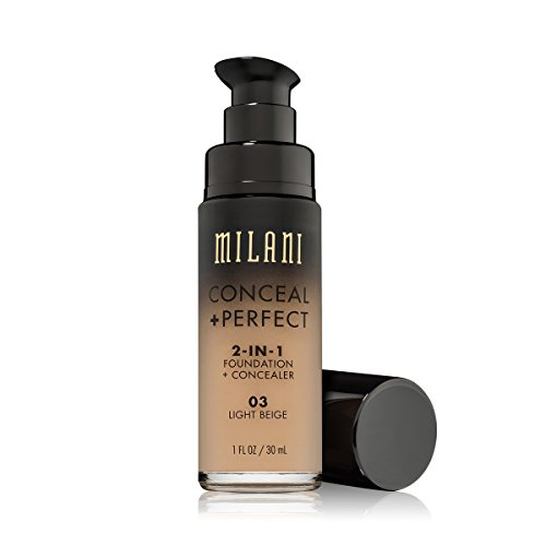 ((3 Pack) MILANI Conceal + Perfect 2-In-1 Foundation + Concealer - Light Beige)