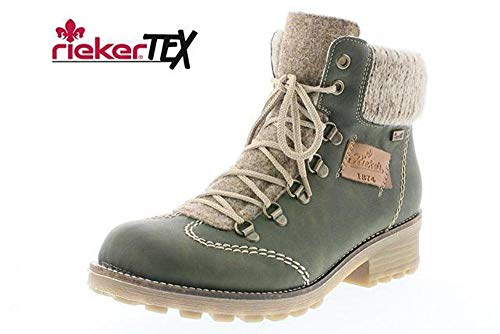 Womens Ring Leather Boots D Ankle Waterproof 24 Z0444 Forest Eagle 54 rSq4ZOr