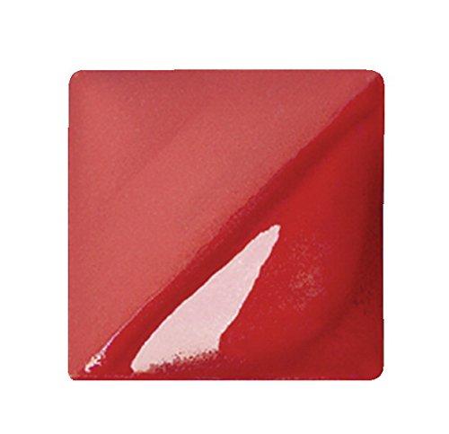 AMACO Velvet Lead-Free Non-Toxic Semi-Translucent Underglaze, 1 Pint, Radiant Red V-388 ()