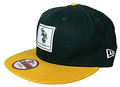 New Era Men's Oakland Athletics Patch Perfect Snapback Cap One Size Green Yellow